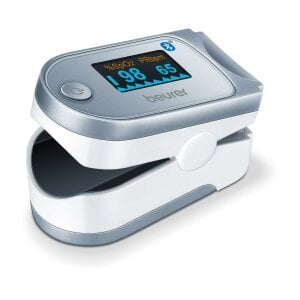 Beurer Pulsoximeter - PO 60 <i>Bluetooth</i><sup>®</sup> Innovative Vernetzung via <i>Bluetooth</i><sup>®</sup>