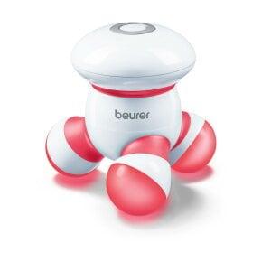 Beurer Mini-Massagegerät - MG 16 rot Sanfte Vibrationsmassage - zu Hause, im Büro oder unterwegs